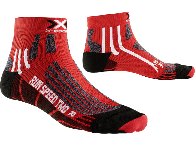 X-Socks Run Speed Two Socks Red/Black